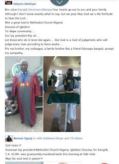 Retired Principal Murdered By Unknown Gunmen In Ondo (Photo)