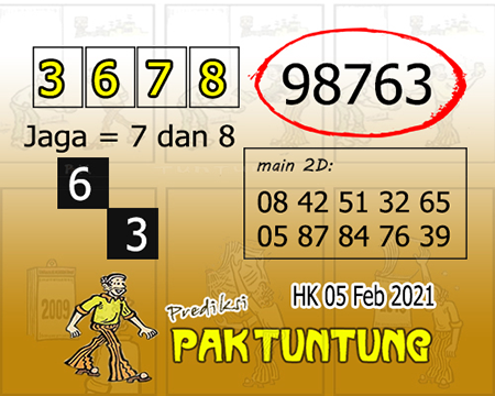 Prediksi Pak Tuntung Hk Jumat 05 Februari 2021
