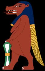Tawaret, hippo god, hippo headed goddess, Egyptian hippopotamus