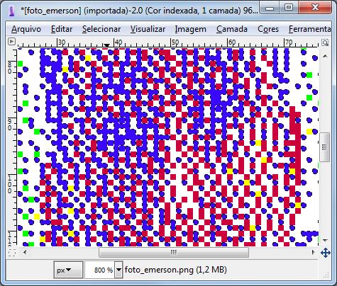 Repete o processo para trocar os pixels brancos por amarelos. 370fcbe3f57