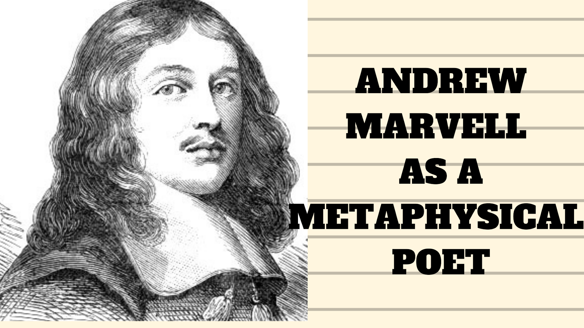 Assess Andrew Marvell as a Metaphysical Poet