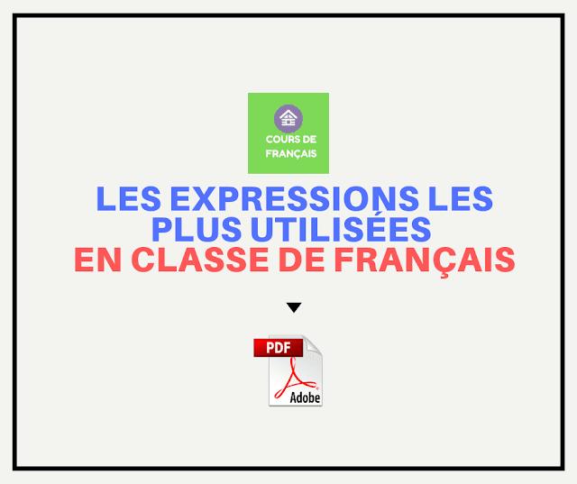 expressions les plus utilisées en classe de français