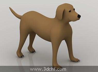 animal dog 3d model