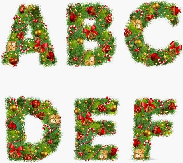 Alfabeto natalino colorido