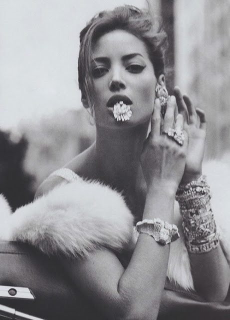 Christy Turlington photography by Steven Meisel