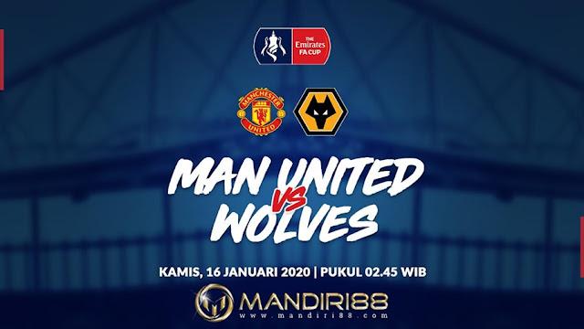 Prediksi Manchester United Vs Wolves, Kamis 16 Januari 2020 Pukul 02.45 WIB @ RCTI