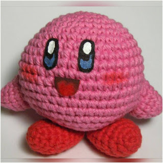 patron amigurumi Kirby crochet y amigurumis