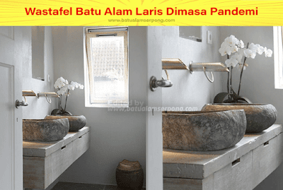 wastafel dan dispenser batu