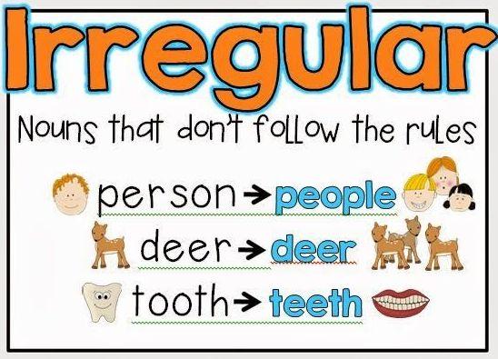 Lesson Plan Of Plural Of Irregular on Number 8 Worksheets
