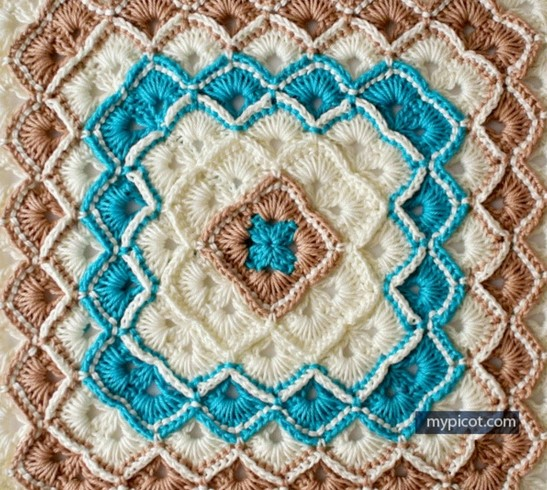 Blanket crochet stitch Bavarian