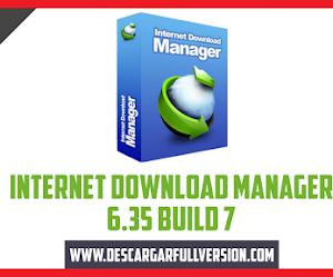 Descargar Internet Donwload Manager 6.35 Build 7 Full