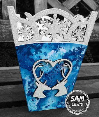 Snowflake Vase by Sam Lewis AKA The Crippled Crafter