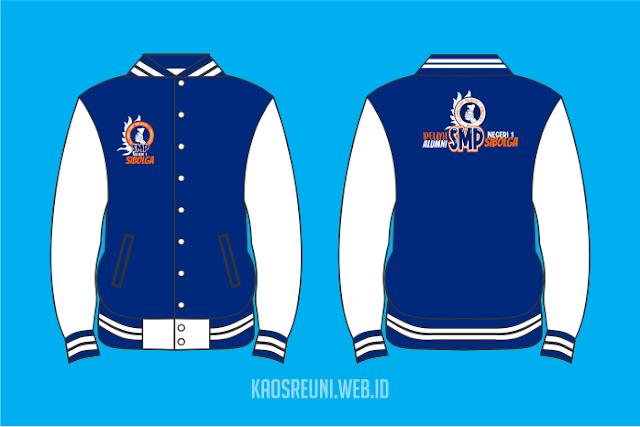 Jaket Varsity dan Sablon Kaos Reuni SMP 1 Sibolga - Konveksi Kaos Jaket