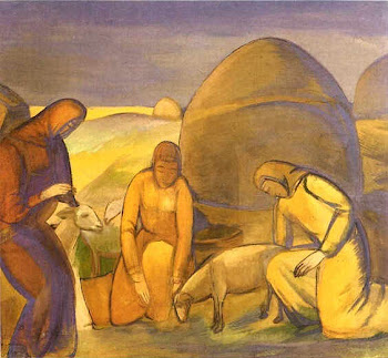 Kuznetsov 'Shearing of Sheep' (1912)