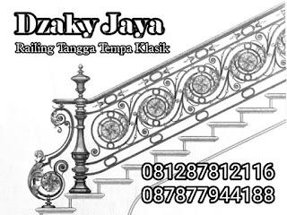 Gambar Desain railing tangga besi klasik Dzaky Jaya
