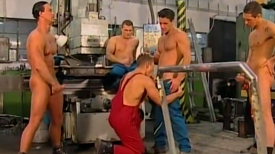 Muscle Bound Factory Workers Fuck