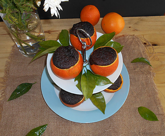 chocolate e laranja bolo