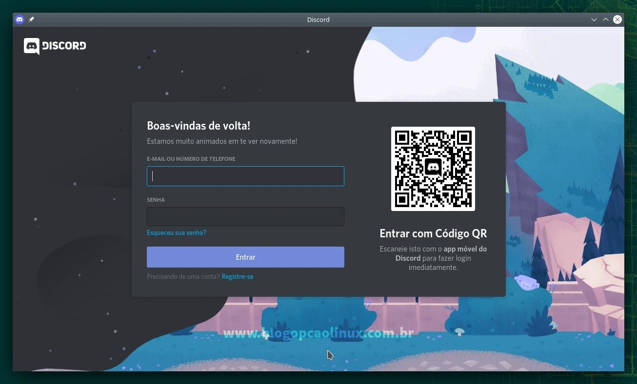 Discord executando no openSUSE Leap 15.3