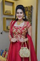Jenny Honey in Stunning Dark Red Anarkali Dress at Splurge   Divalicious curtain raiser ~ Exclusive Celebrities Galleries 038.JPG
