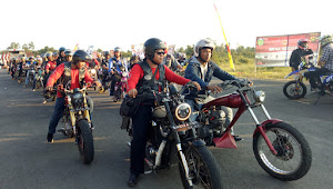 Seru, Ratusan Bikers Gelar Rolling Thunder Keliling Kota Tebo