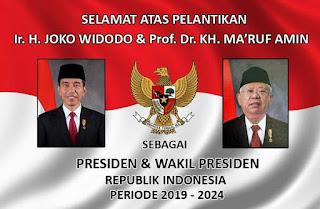 Kumpulan Ucapan selamat atas pelantikan Presiden Joko Widodo-Ma'ruf Amin