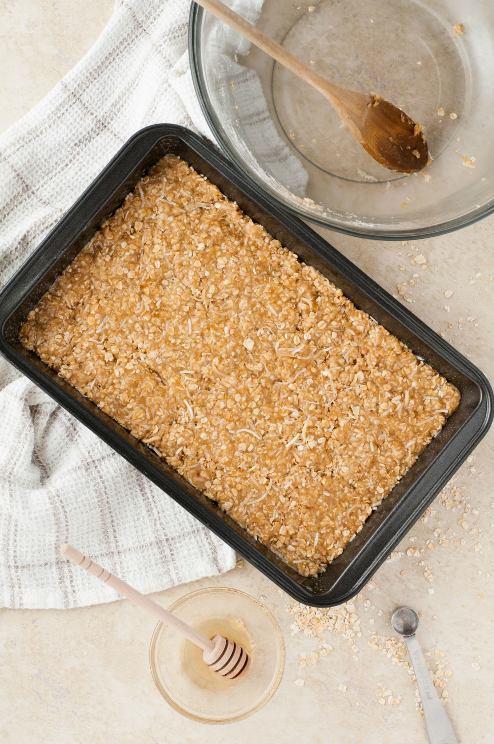 homemade granola bar with variations