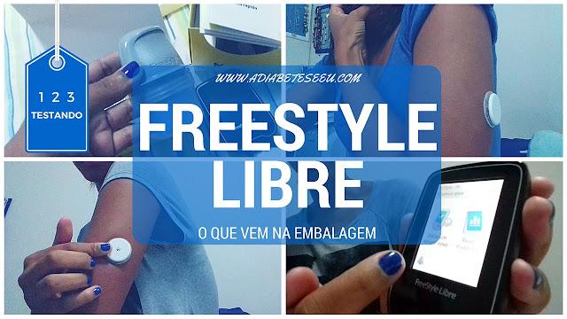 freestyle libre, embalagem, diabetes, glicemia, glicossímetro