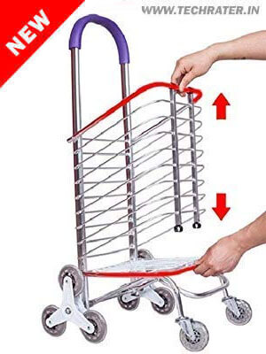 Folding Stair Trolley (wheeled grocery cart)