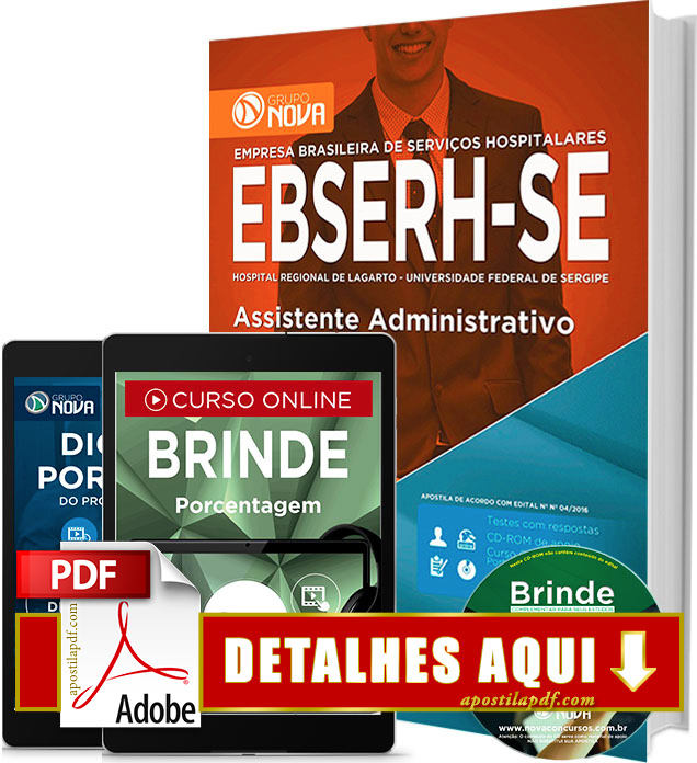 Apostila EBSERH SE 2016 Assistente Administrativo Impressa