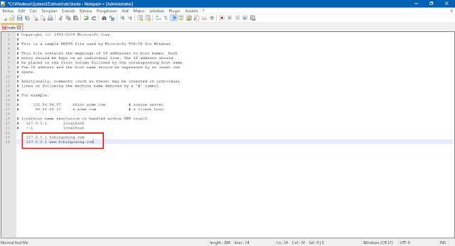 Edit File Hosts Windows