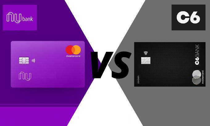 C6 Bank ou Nubank: Compare e veja qual banco digital tem o melhor cartão de crédito