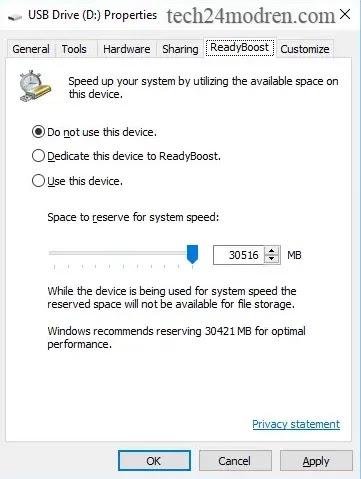 استخدام USB خارجي
