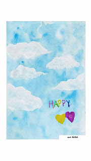 watercolor painting happy