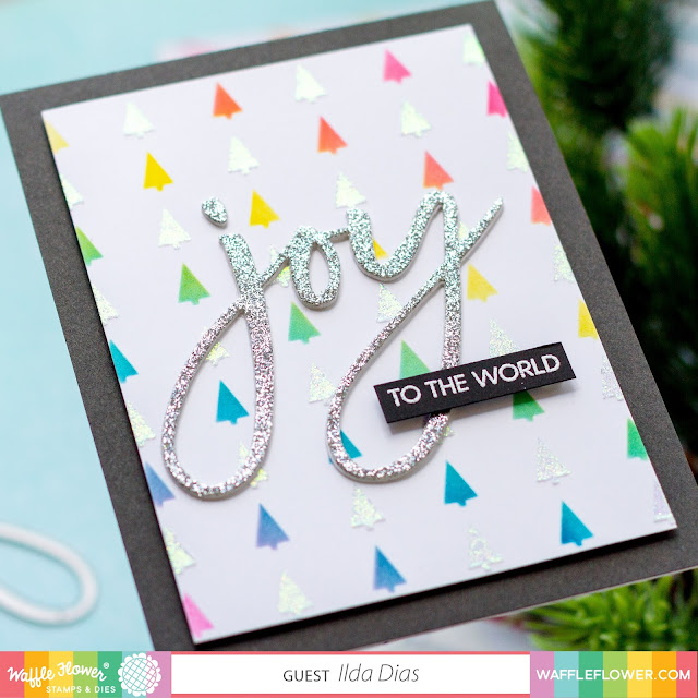 Oversized Joy, Christmas in July, Cards, Tags, Waffle Flower, flat shaker ,Frameless Shaker,Card Making, Stamping, Die Cutting, handmade card, ilovedoingallthingscrafty, Stamps, how to,  rainbow,Clean & Simple Christmas Cards,