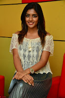 Eesha in a cute deep neck top and Skirt at at Big FM 018.JPG