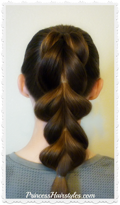How to make a pull through braid with 1/2 the elastics tutorial. Hairstyle hack!