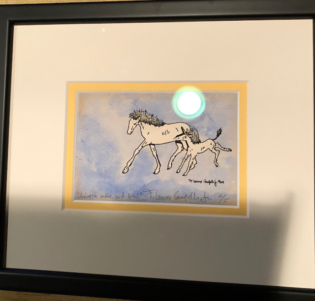 Unicorn Mare and Foal - 1979 by F. Lennox Campello
