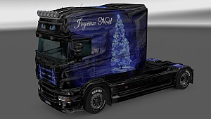 Christmas Landscape skin for Scania RJL