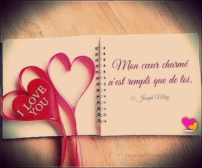 Messages d'amour : Mon cœur charmé n'est rempli que de toi