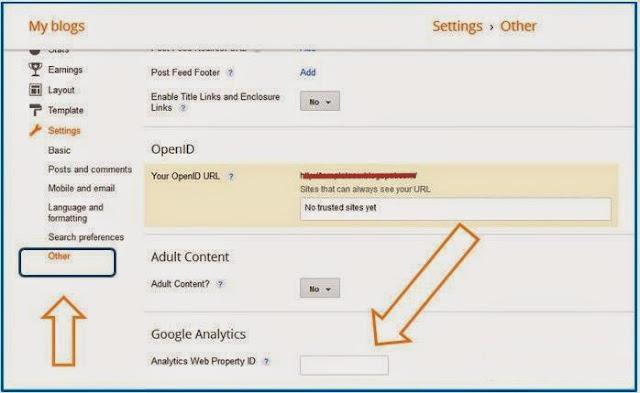 Letakan kode tracking google analytics nya disini