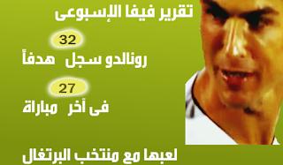 رونالدو يسجل 32 هدفاً فى 27 مباراة