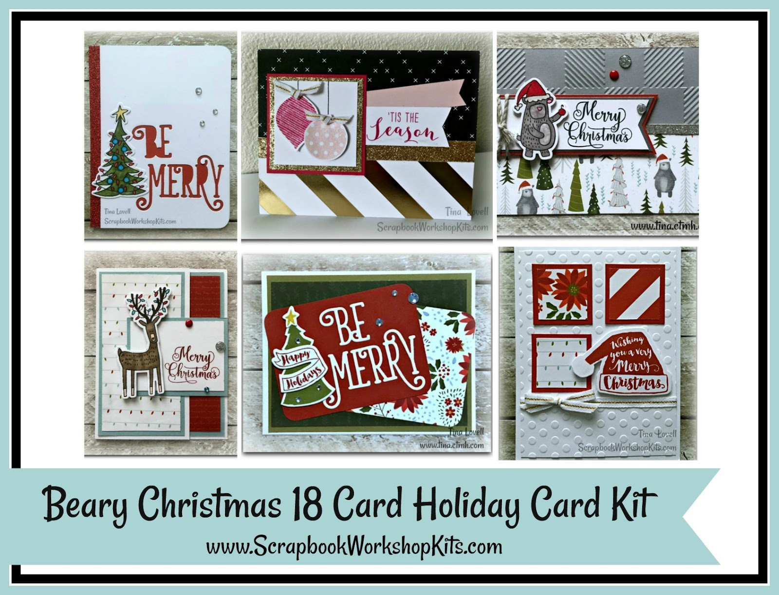Scrapbooking Kits: Beary Christmas 18 Card Holiday Cardmaking Kits ...