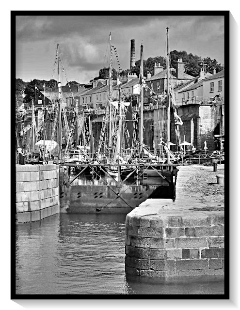 The gate at Charlestown Harbour, Cornwall