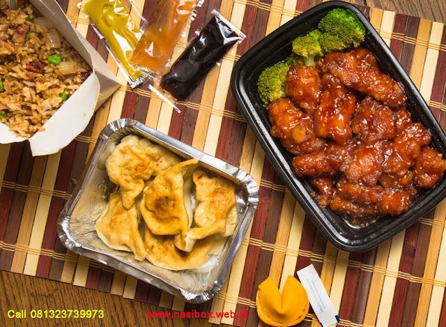 Nasi kotak ala chinese food di ciwidey
