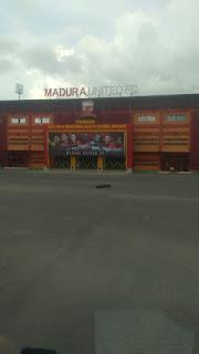 Rumput zoysia matrella Manila dan rumput gajah mini untuk stadion di madura pamekasan UNITED FC tahun 2021