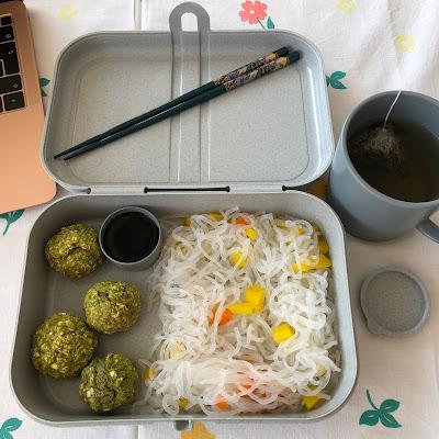Bento boulettes aux edamames et shirataki de Konjac