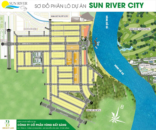 Sơ đồ phân lô giai đoạn 2 dự án Sunriver City
