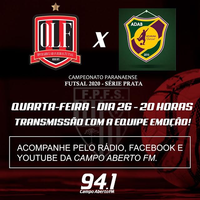 Operário Laranjeiras joga a primeira em casa contra o Adab/Bituruna pela segunda rodada da Série Prata de Futsal