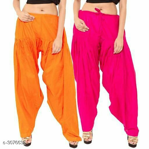 Rayon Women's Patiala Salwar Pants (Pack Of 2)