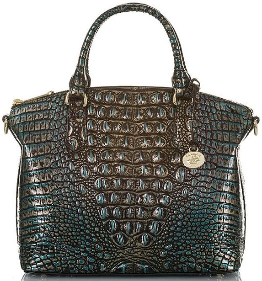 Duxbury Crocodile-Embossed Satchel Bag